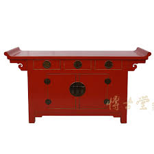 red lacquered furniture. Chinese Antique Reproduction Red Lacquered Altar Cabinet/Buffet Table 28B06 Antiques Furniture