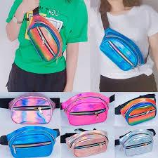 waterproof unisex waist pack men fanny women belt bum bag reflective strip male phone wallet pouch bags patchwork