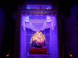 ganpati decoration with light effect 2014 at home nandoskar