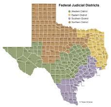 Texas Courts Chart Federal Courts In Texas Texas Almanac