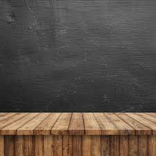 wooden floor with a blackboard free photo
