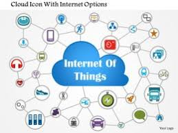 internet of things fully connected networked devices all over the Internet Of Things Diagrams 1114_cloud_icon_with_internet_options_powerpoint_template_slide01 internet of things diagrams