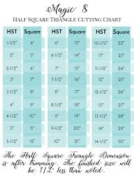 Half Square Triangle Cutting Chart Best 10 Magic 8 Half Square Triangle Chart Skillofking Com
