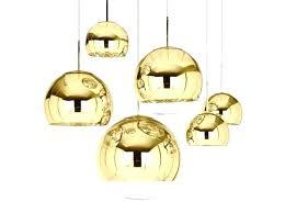 gold pendant light globe mirror ball lighting from tom white uttermost 3