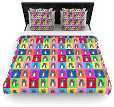 bruce stanfield cat i love you rainbow cotton duvet cover queen 88 x
