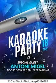 Concert Invite Template Karaoke Party Invitation Poster Design Template Karaoke Night Flyer Design Music Voice Concert