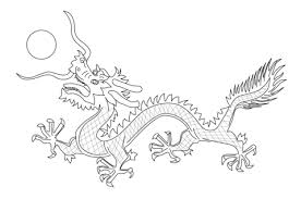 Chinese Draak Van De Vlag Van Qing Dynastie Kleurplaat Gratis