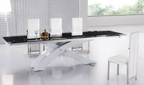 dining set with extendable glass top dining table