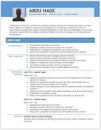 Account Representative Resume Account Executive Sales Resume