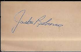 3 By 5 Index Card Jackie Robinson Signed 3 X 5 Index Card Certified By Jsa James