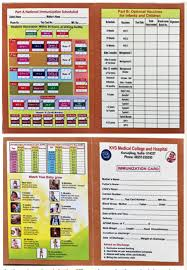 immunization card in india different vaccination cards cause confusion
