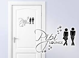 Grandora Wandtattoo Sprüche Pipi Lounge Mann Frau I Azurblau 17 X 11
