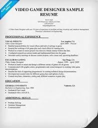 Video Game Designer Resume Objective