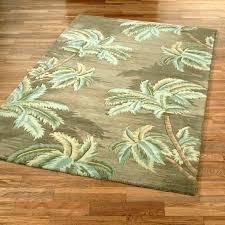 palm tree bath rug set border area rugs round design