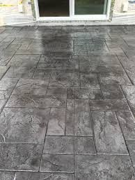 stained stamped concrete patio. Stamped Concrete Patio Medium Grey Color With Black Release! Stained