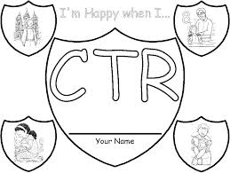 Ctr Shield Coloring Page Church Pinterest Ctr Shield Lds