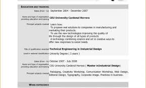 A Job Resume Sample Magnificent Gallery Of 44 Sample Curriculum Vitae For Job Application Pdf R