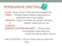 th grade persuasive essay persuasive writing claim what s persuasive writing claim what s wrong what should be changed