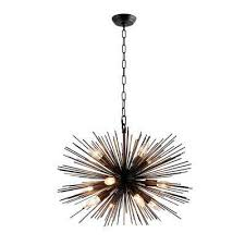 12 light black sputnik chandelier