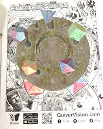 Coloring page with educational implication is a real treasure for parents: Quiver In The Classroom Augmented Reality App Minds In Bloom