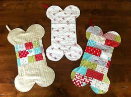 Quilted Christmas Stocking Patterns to Stitch and Stuff & Dog Bone Stockings Adamdwight.com