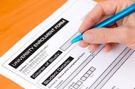 filling out applications required documents for college enrollment registration
