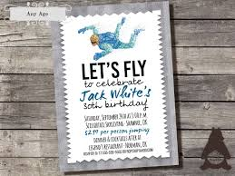 How To Make Printable Invitations Skydiving Invitation Parachuting Invitation Skydiver