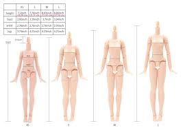 Blythe Doll Size Chart Official Azone Neemo Flection New Sizing Information Direct