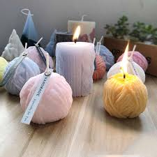 Spherical Rose Candle Mold Home Decoration Flower Candle ...