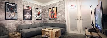 faux brick interior wall