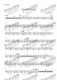drum set sheet music drum set part from go down moses download sheet music pdf