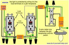gfci receptacle and switch same box how to in 2019 gfci wiring protected switch and light