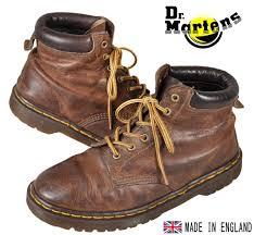 england made vintage dr martens martens 6 hole boots brown leather