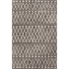 jaipur rugs riad 2 x 3 hand tufted wool rug in gray and ivory rug113143