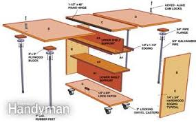 folding workbench. a exploded view of workbench folding
