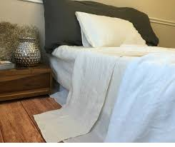 linen bed sheets in cream linen cream