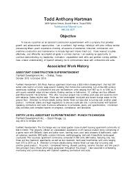 Superintendent Construction Resume 1 Construction Superintendent Resume Docx 2