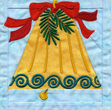 In-the-hoop Christmas Quilt Block & Bell In-the-hoop Christmas Quilt Block Adamdwight.com