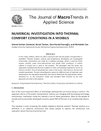 PDF) ScienceDirect Factors which influence the thermal comfort ...