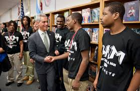 street violence stole his smile but marcus norris is getting it or rahm emanuel shakes hands marcus norris in 2013 when the or announced new