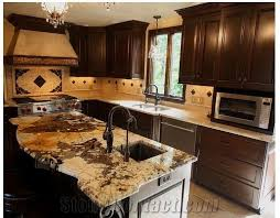 antique persa gold granite kitchen countertop antique persa gold yellow granite kitchen countertops