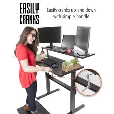 full size desk simple stand. Tranzendesk Dual Level - 47 Inch Full Sized Standing Desk (Black Manual) Stand Steady Size Simple