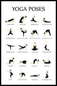 Yoga Pose Chart Poster Chartex Yoga Poses Reference Chart Poster 24x36 Inch