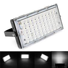 50w Led Security Light 50w Black Shell Led Flood Light Waterproof White Light Landscape Garden Lamp For Outdoor Ac185 265v