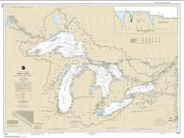 Up To Date Depth Charts Great Lakes 14500 27 By Noaa Maps Nautical Chart