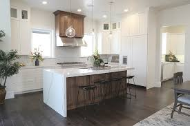 oak stained kitchen cabinets