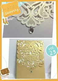 2016 new design wedding invitations white light coffee color hollow laser cut greeting cards free design and printing via dhl shipping free holiday
