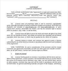 8+ License Agreement Samples, Templates, Examples | Sample Templates