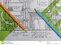 Interior design drawings stock photo Image of template 3074078