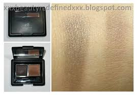 elf eyebrow kit medium vs dark. i have the e.l.f. eyebrow kit in dark. one side is a tinted gel and other dark brown powder. packaging size exactly like that of elf medium vs